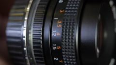 Manual focus lenses. - stock footage