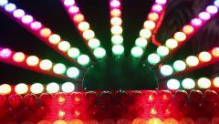 Floodlights Flashing. Multicolors lights celebration. Stock Footage