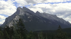 Canada Alberta Bow River Parkway slanted mountain  Stock Footage