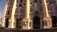 Piazza Affari building Stock Footage