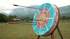 Target for archery. - stock footage