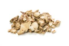 sand ginger, aromatic ginger, resurrection lily , kaempferia galanga l on whi - stock photo