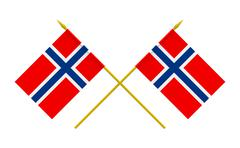 Stock Illustration of flags, norway