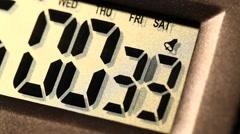 Digital Clock Stock Footage