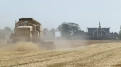Combine harvester, straw chopper - medium shot Stock Footage