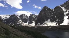 Canada Alberta Eiffel Lake peaks s Stock Footage