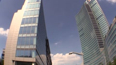 Expo 2015 on the top of skyscraper Regione Lombardia, Milan Stock Footage