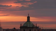 Milan at sunset from the top (zoom out) Stock Footage