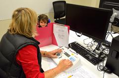 Hearing check for pre-school children Stock Photos
