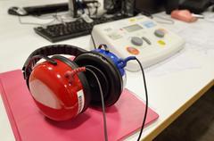 hearing screening and check equipment - stock photo
