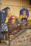 Colourful Murals of Valparaiso - stock photo