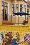 Colourful Murals of Valparaiso Stock Photos