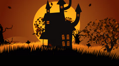 01612 695 Halloween 018 Witch House Track In HD Stock Footage