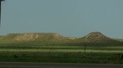 Western Kansas Mesas in Summer 2 Stock Footage
