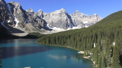 Canada Alberta Moraine Lake Valley of Ten Peaks s Stock Footage
