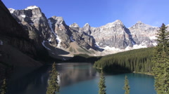 Canada Alberta Moraine Lake Valley of the Ten Peaks view s Stock Footage