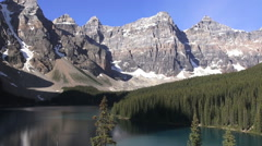 Canada Alberta Moraine Lake Valley of the Ten Peaks vista Stock Footage