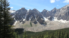 Canadian Rockies Banff Mountains from Eiffel Lake Trail c Stock Footage