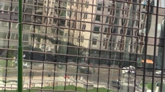 Skyscraper.Traffic reflected in the mirrors Stock Footage