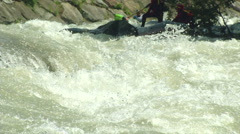 Wildwater canoeing man slow motion 11 Stock Footage