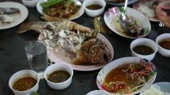 Fish Non vegetarian food Stock Footage
