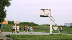 Basket ball outdoor recreation excercise Stock Footage