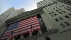 Stock Exchange building exterior, New York City - stock footage