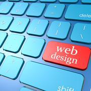 Web design keyboard Stock Illustration