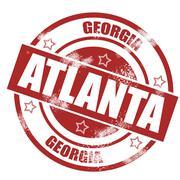 Stock Illustration of Atlanta-stamp
