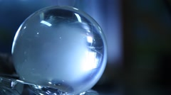 Closeup of crystal Globe Stock Footage