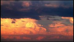 Dramatic cloudy sky on sunset Stock Footage