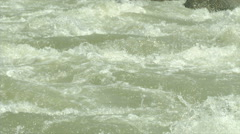 Wildwater canoeing man slow motion 14 Stock Footage