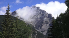 Canada Banff Tunnel Mountain above Banff time lapse s Stock Footage