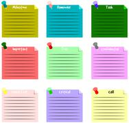 Sticky note vector text background Stock Illustration
