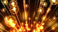 4K Abstract motion background, shining light, rays, particles, seamless loopable Stock Footage