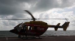 Closeup of Helicopter Stock Footage