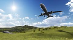 Plane flying Stock Illustration