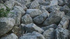 Mysterious rock pile Stock Footage