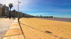 Beach in Montevideo Stock Footage