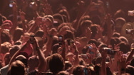 Stock Video Footage of Crowd Concert Fans Cheering Audience in Music Show Coachella Slow Motion