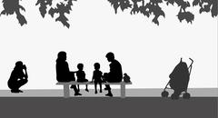 Stock Illustration of family together
