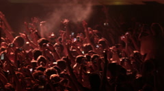 Crowd Concert Fans Cheering Audience in Music Show Coachella Slow Motion - stock footage