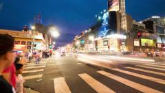 Hollywood and Highland intersection at night Los Angeles. 4K Rotating timelapse. Stock Footage