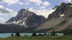 Canada Icefields Parkway Crowfoot Glacier over Bow Lake time lapse  Stock Footage