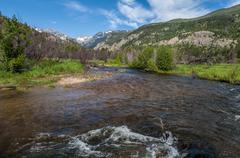 Fish creek beaver ponds in rocky mountain national park colorado Stock Photos