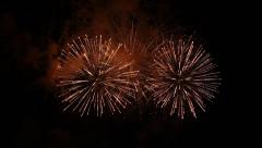 Amazing Fireworks with sound - stock footage
