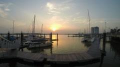 Danga Bay Sunset Timelapse Stock Footage