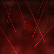 red lasers - stock illustration