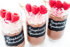 raspberry rendezvous - stock photo