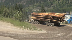British Columbia Adams Lake log truck on road Stock Footage